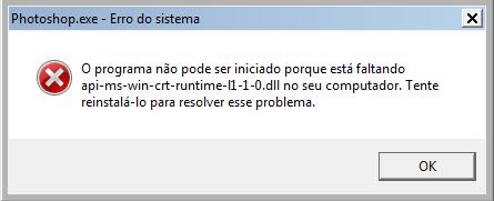 Erro ao instalar um programa – Api-ms-win-crt-runtime-l1-1-0.dll está faltando