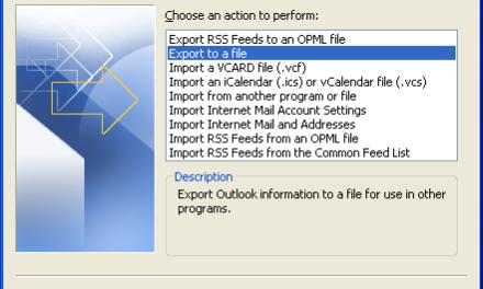 Exportando emails para um arquivo (.PST)
