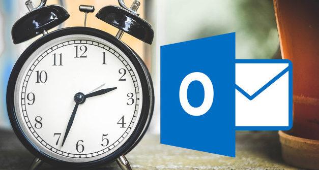 Ajustando o tempo para que o Outlook verifique se tem novos emails