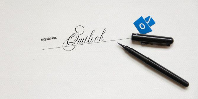 Como configurar uma assinatura no Outlook