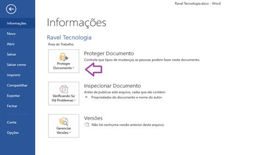 proteger arquivos com senha do office