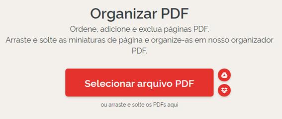 organizar arquivo PDF