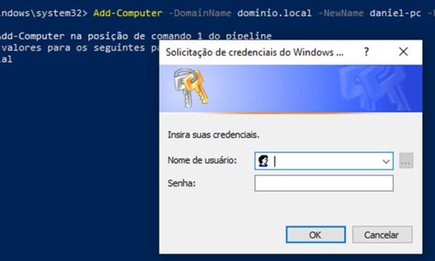 Inserir computador no domínio através do PowerShell
