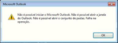 Erro Outlook: Não é possível iniciar o Microsoft Outlook. Não é possível abrir a janela do outlook