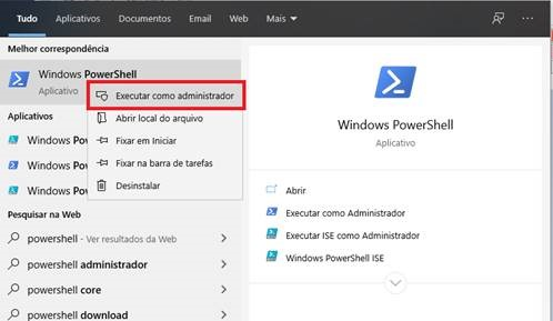 desinstalar apps nativos do Windows 10 pelo PowerShell