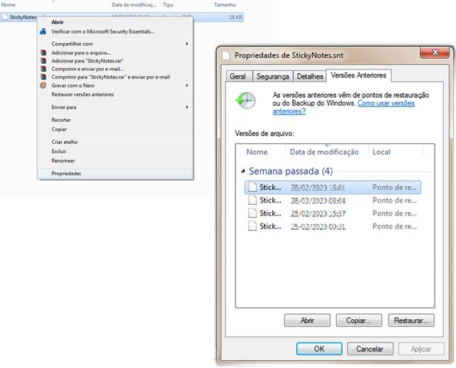 como recuperar notas autoadesivas windows 7