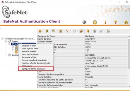 Como alterar a senha Token 5100 Safenet
