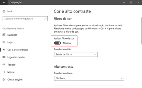 Como resolver a tela preto e branco no Windows 10
