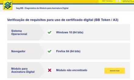 BB Token não abre no Firefox