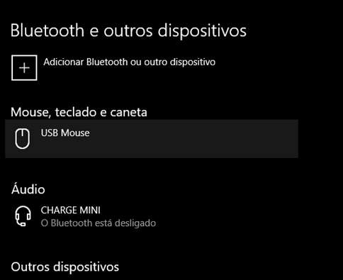 Erro do Bluetooth desativado