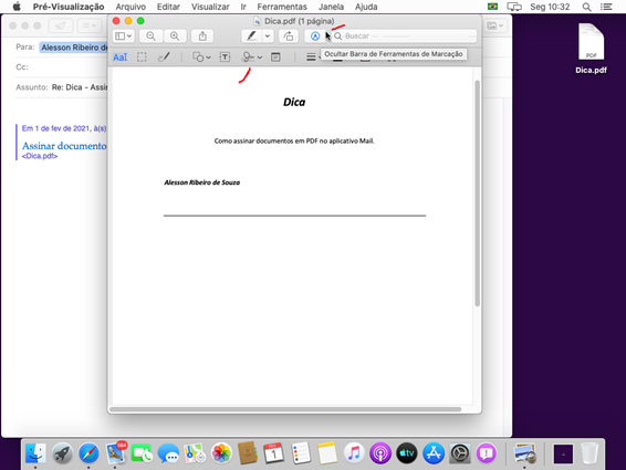 assinar documento no mac