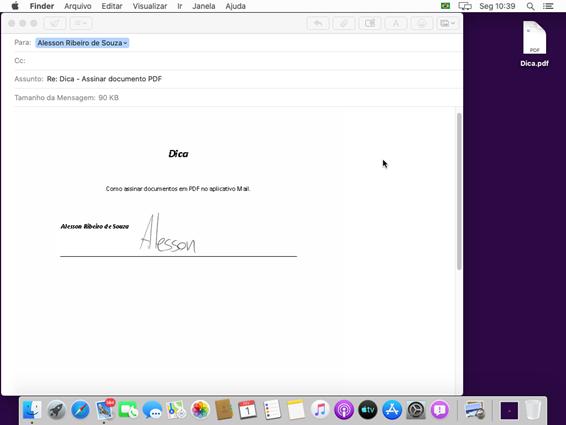 Como assinar um documento pelo Mac
