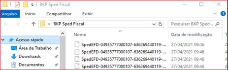 Como fazer backup das escriturações no SPED FISCAL