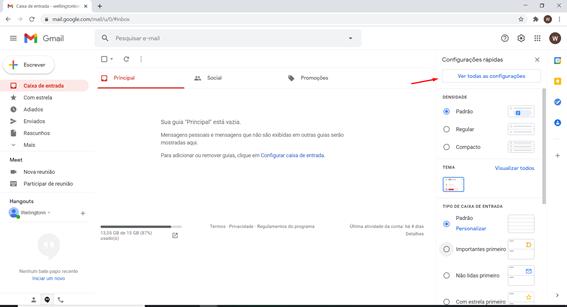 Como configura assinatura no Gmail