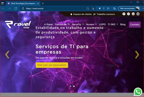 página inicial padrão do Microsoft Edge