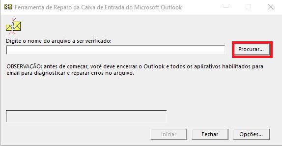 Como reparar o Outlook
