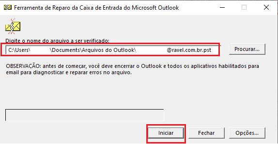 Como reparar arquivo do Outlook