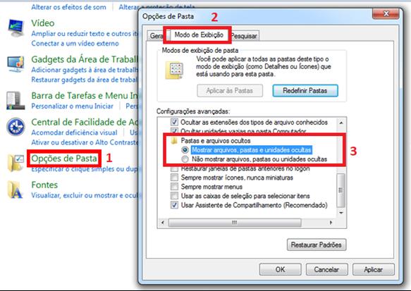 Como visualizar arquivos ocultos no Windows 7