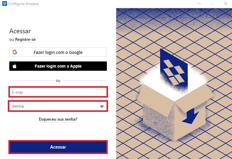 Como instalar o Dropbox