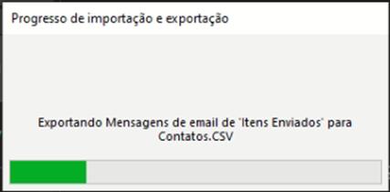 como exportar contatos dos itens enviados do Outlook: