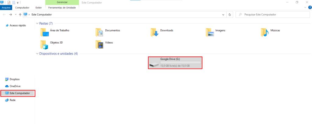 Como ativar sincronização do Google Drive